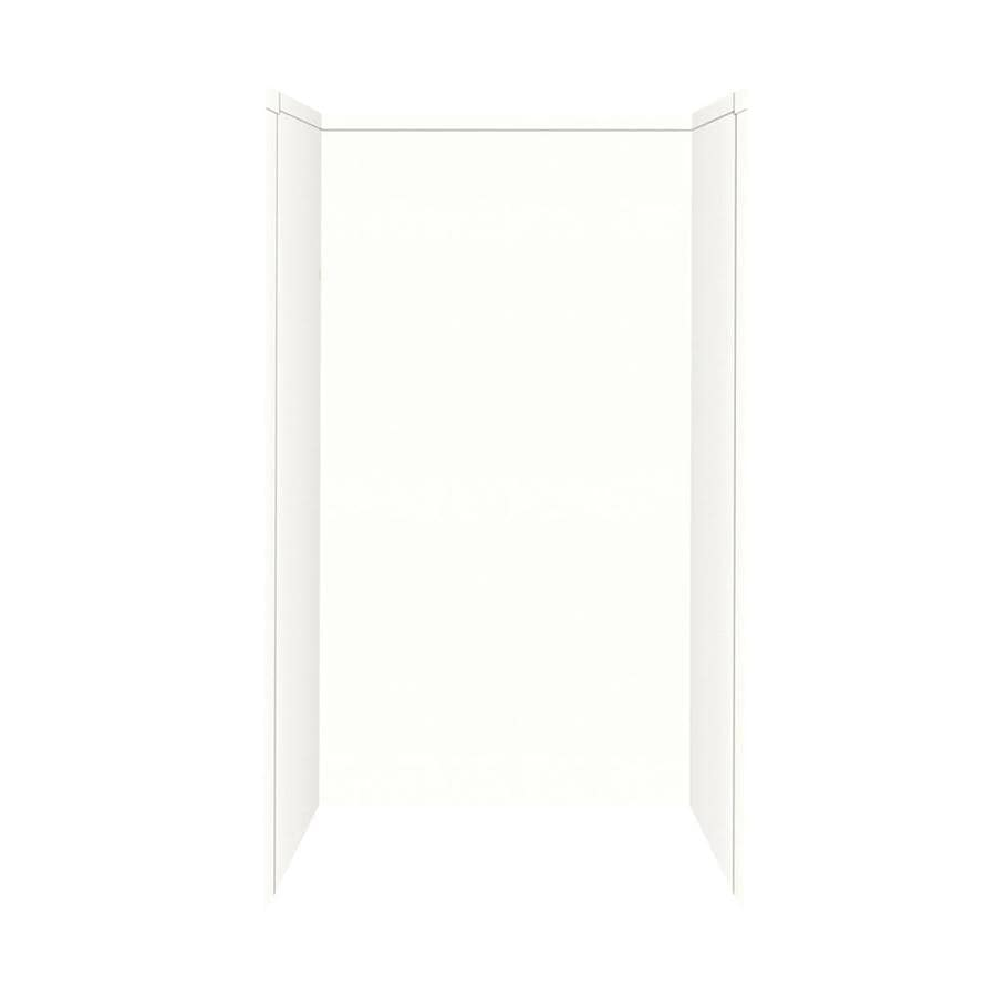 Shop Transolid Decor White Shower Wall Surround Corner Wall Kit Common 34 I