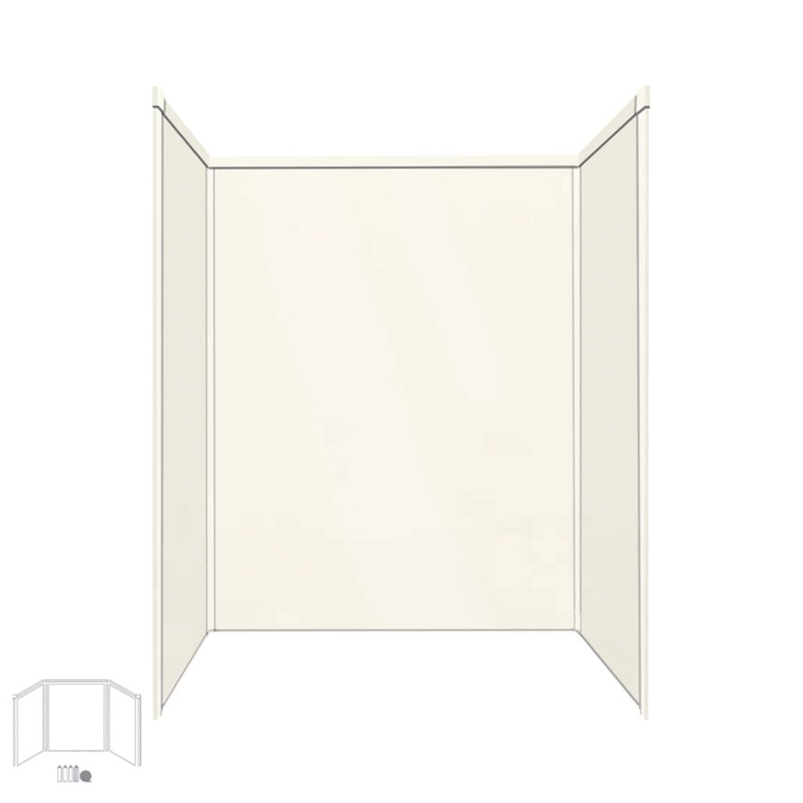 Transolid Decor Cameo Shower Wall Surround Side And Back Wall Kit (Common: 34-in x 60-in; Actual: 96-in x 34-in x 60-in)