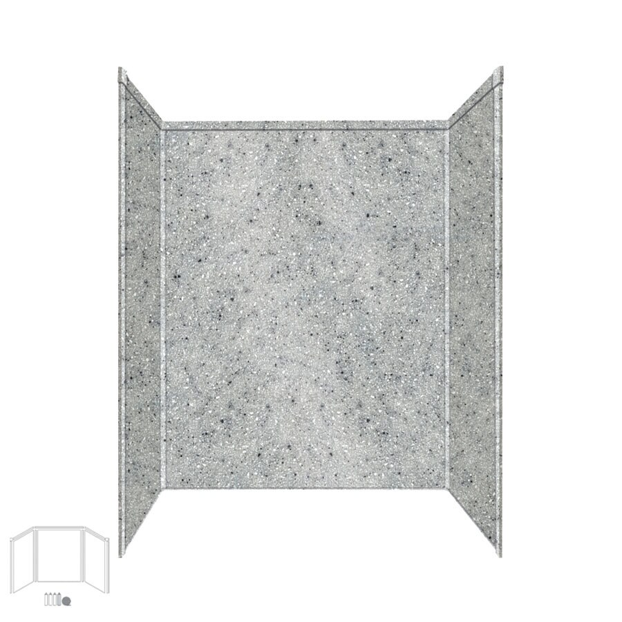Transolid Decor Matrix Dusk/Stone Shower Wall Surround Side and Back Panels (Common: 34-in x 60-in; Actual: 96-in x 34-in x 60-in)