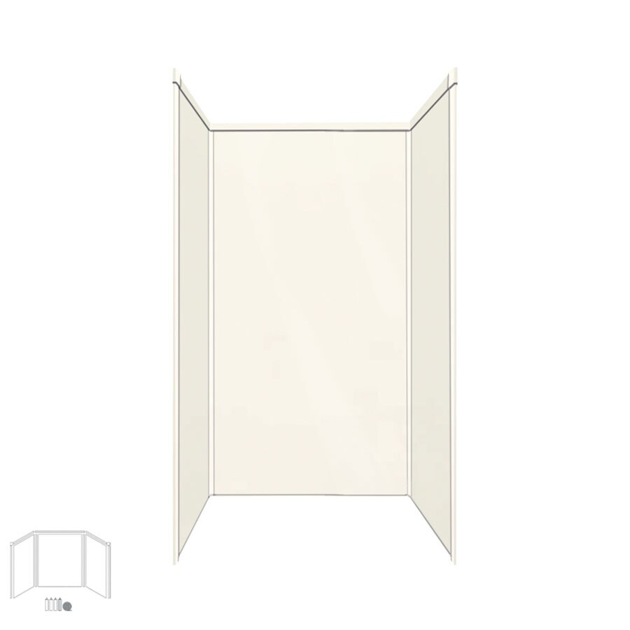 Transolid Decor Cameo/Cream Shower Wall Surround Side and Back Panels (Common: 36-in x 36-in; Actual: 72-in x 36-in x 36-in)
