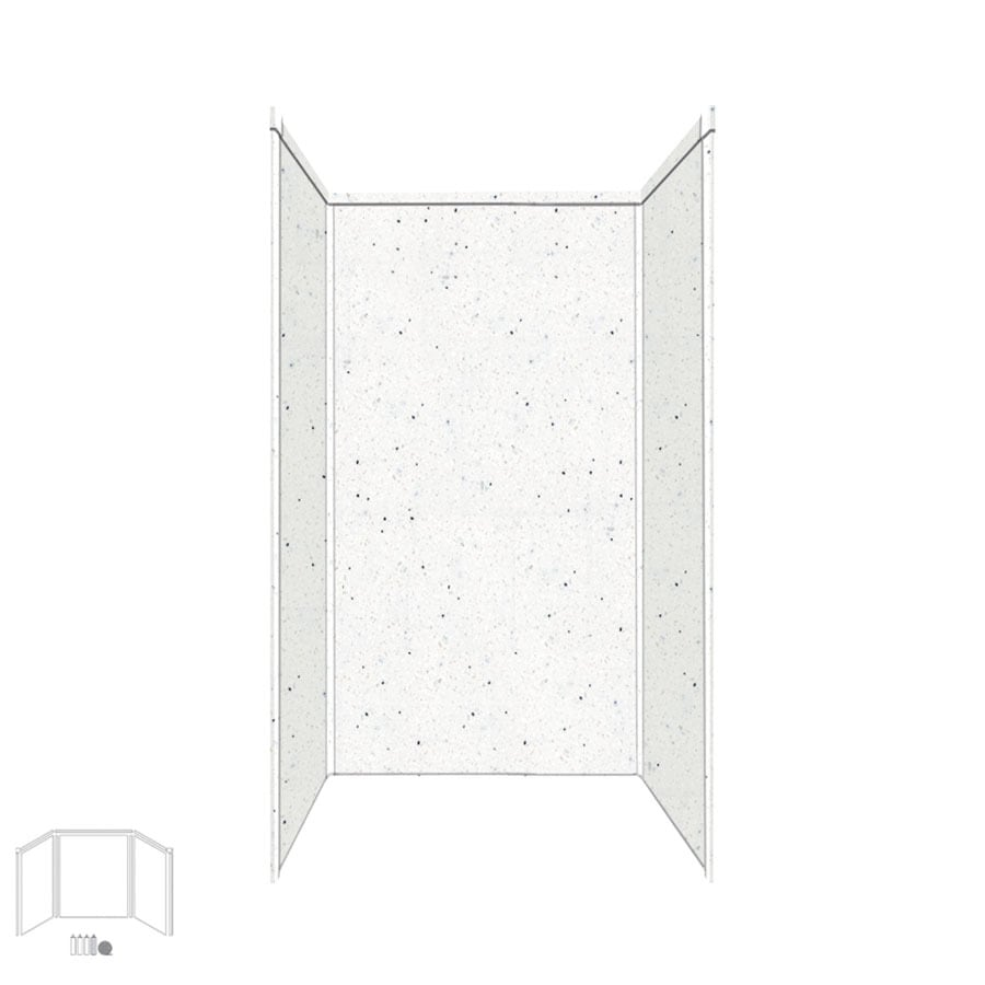 Transolid Decor Matrix Summit/Alabaster Shower Wall Surround Side and Back Panels (Common: 36-in x 36-in; Actual: 72-in x 36-in x 36-in)