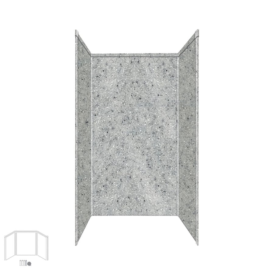 Transolid Decor Matrix Dusk/Stone Shower Wall Surround Side and Back Panels (Common: 36-in x 36-in; Actual: 72-in x 36-in x 36-in)