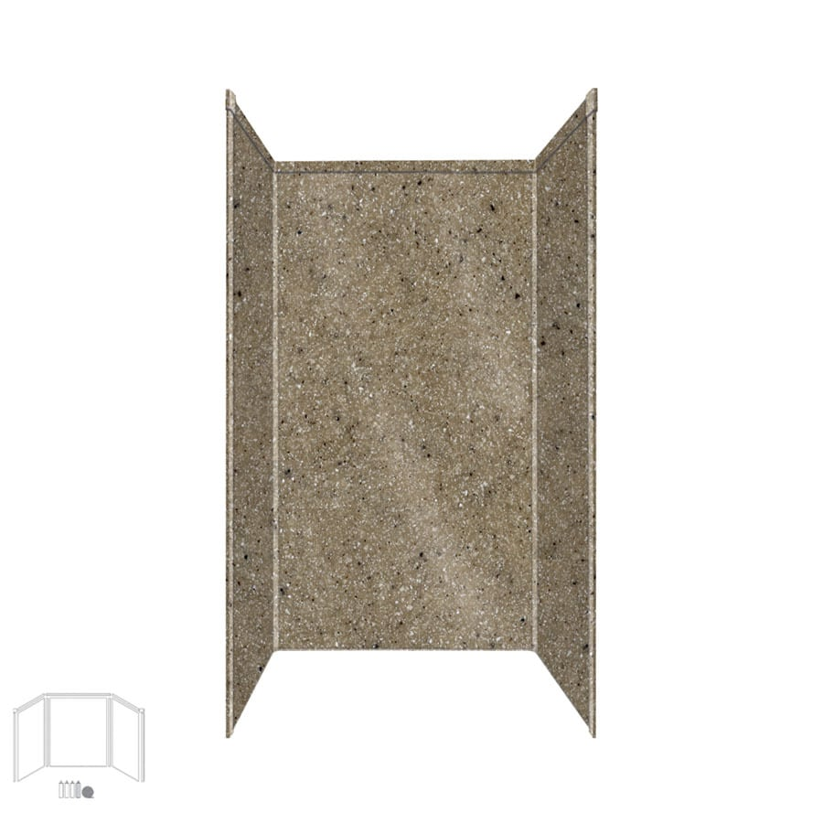Transolid Decor Matrix Sand Shower Wall Surround Side and Back Panels (Common: 36-in x 36-in; Actual: 72-in x 36-in x 36-in)