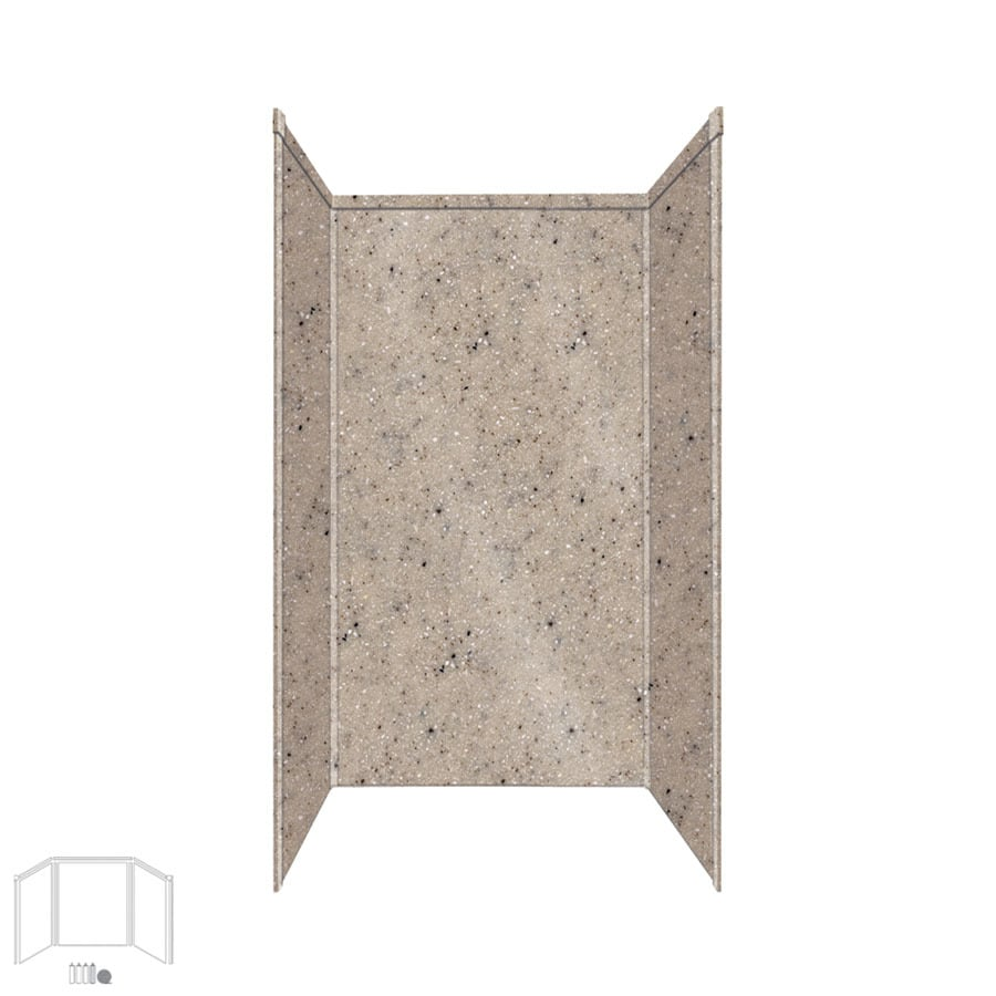 Transolid Decor Desert Earth Shower Wall Surround Side and Back Panels (Common: 36-in x 36-in; Actual: 96-in x 36-in x 36-in)
