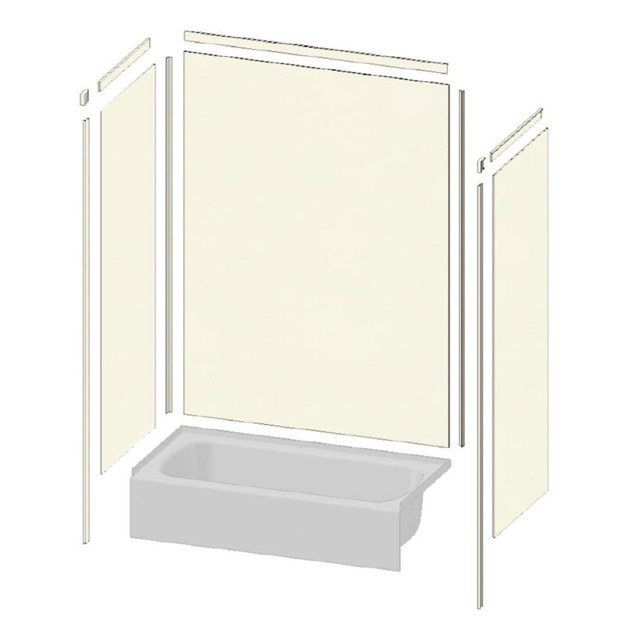 Transolid Decor Biscuit/Buff Shower Wall Surround Side and Back Panels (Common: 36-in x 36-in; Actual: 96-in x 36-in x 36-in)
