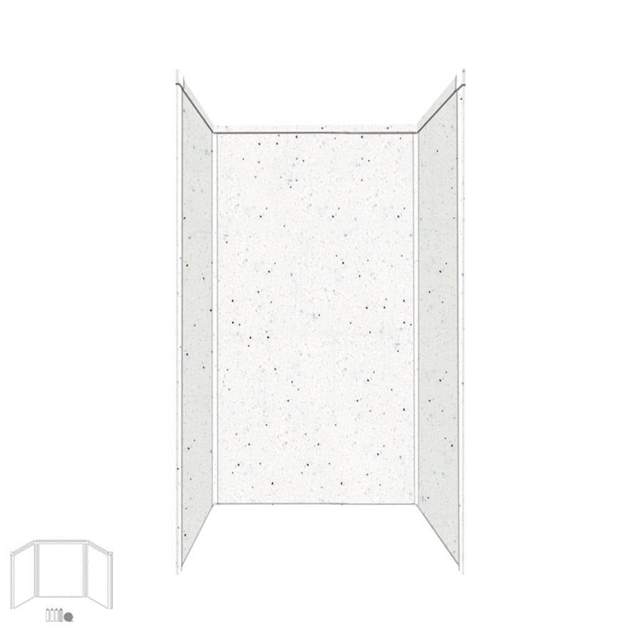Transolid Decor Matrix Summit/Alabaster Shower Wall Surround Side and Back Panels (Common: 36-in x 36-in; Actual: 96-in x 36-in x 36-in)