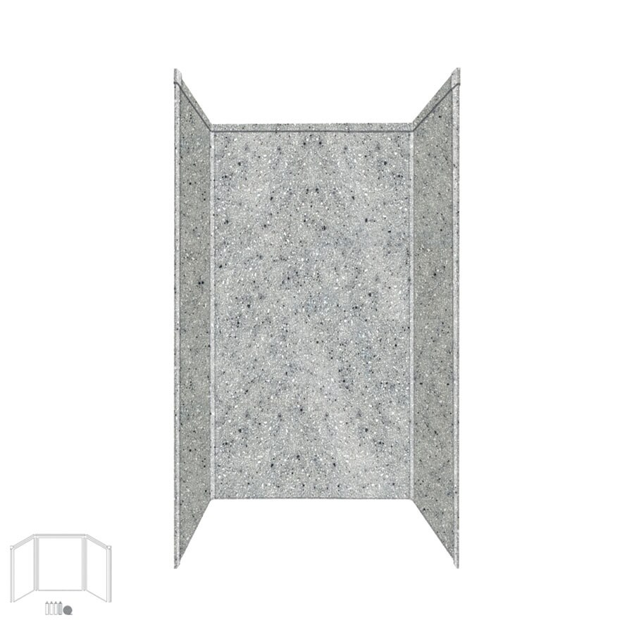 Transolid Decor Matrix Dusk Shower Wall Surround Corner Wall Kit (Common: 36-in x 36-in; Actual: 96-in x 36-in x 36-in)