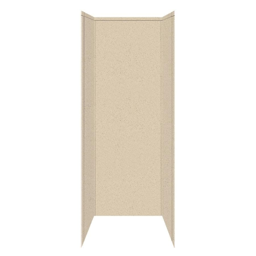Transolid Decor Matrix Khaki/Sunset Sand Shower Wall Surround Side and Back Panels (Common: 36-in x 36-in; Actual: 96-in x 36-in x 36-in)