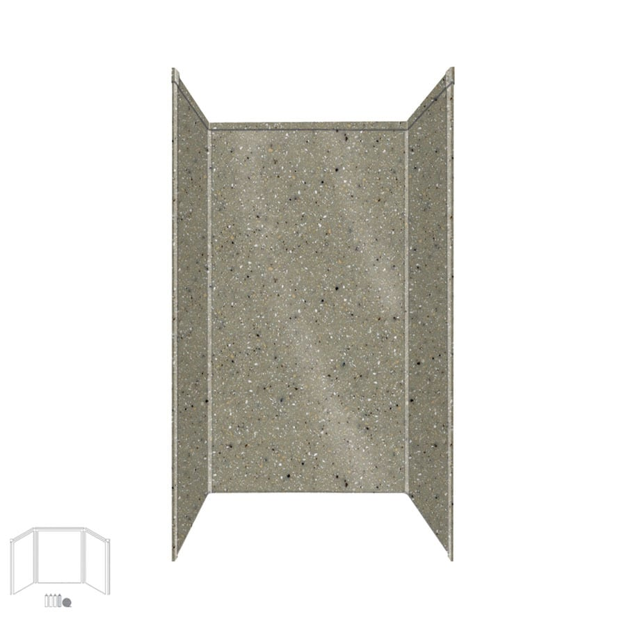Transolid Decor Peppered Sage Shower Wall Surround Side and Back Panels (Common: 42-in x 42-in; Actual: 72-in x 42-in x 42-in)