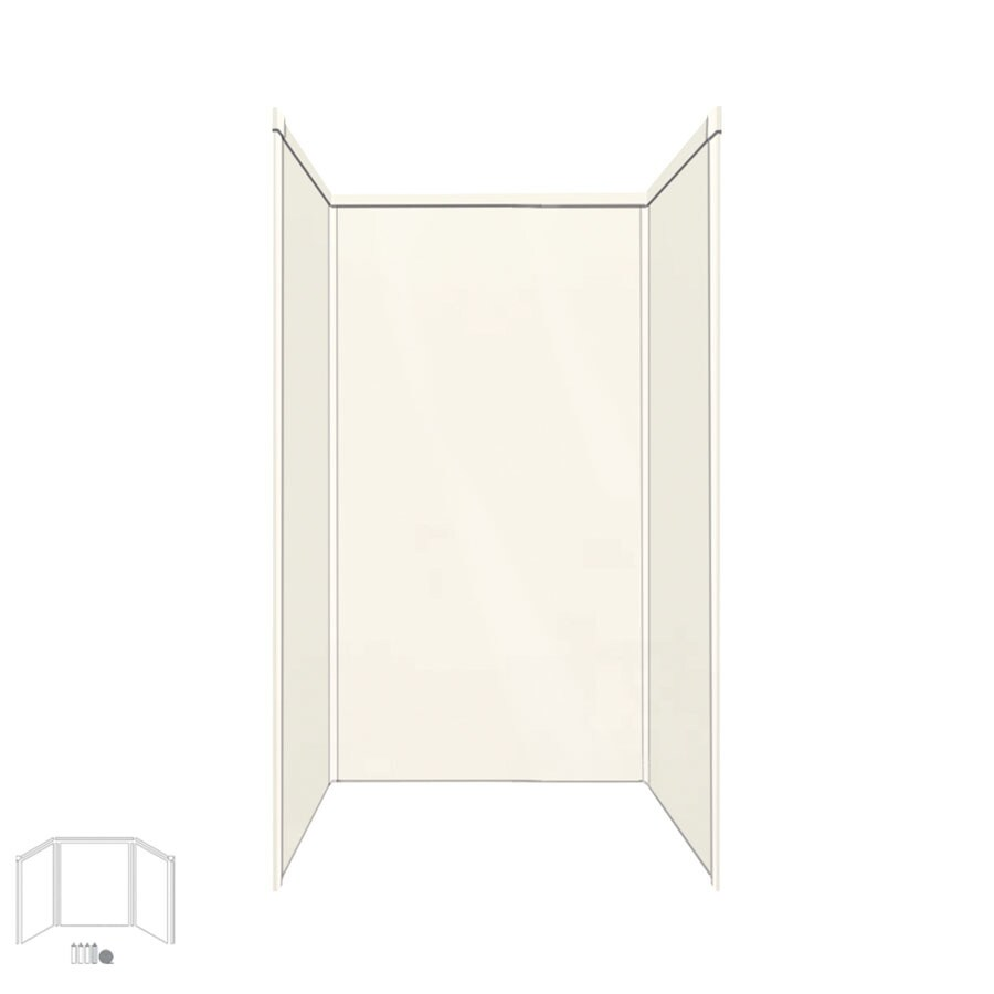 Transolid Decor Cameo/Cream Shower Wall Surround Side and Back Panels (Common: 42-in x 42-in; Actual: 72-in x 42-in x 42-in)