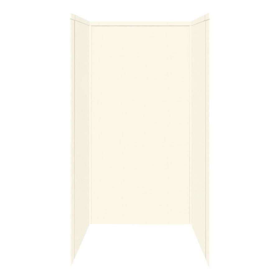 Transolid Decor Biscuit Shower Wall Surround Side And Back Wall Kit (Common: 42-in x 42-in; Actual: 72-in x 42-in x 42-in)