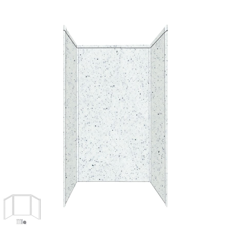 Transolid Decor Matrix White/Speckled White Shower Wall Surround Side and Back Panels (Common: 42-in x 42-in; Actual: 72-in x 42-in x 42-in)