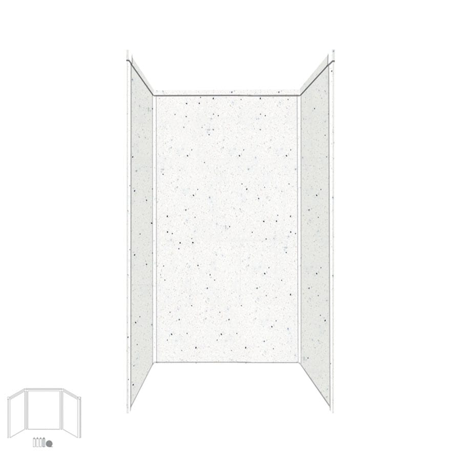 Transolid Decor Matrix Summit/Alabaster Shower Wall Surround Side and Back Panels (Common: 42-in x 42-in; Actual: 72-in x 42-in x 42-in)
