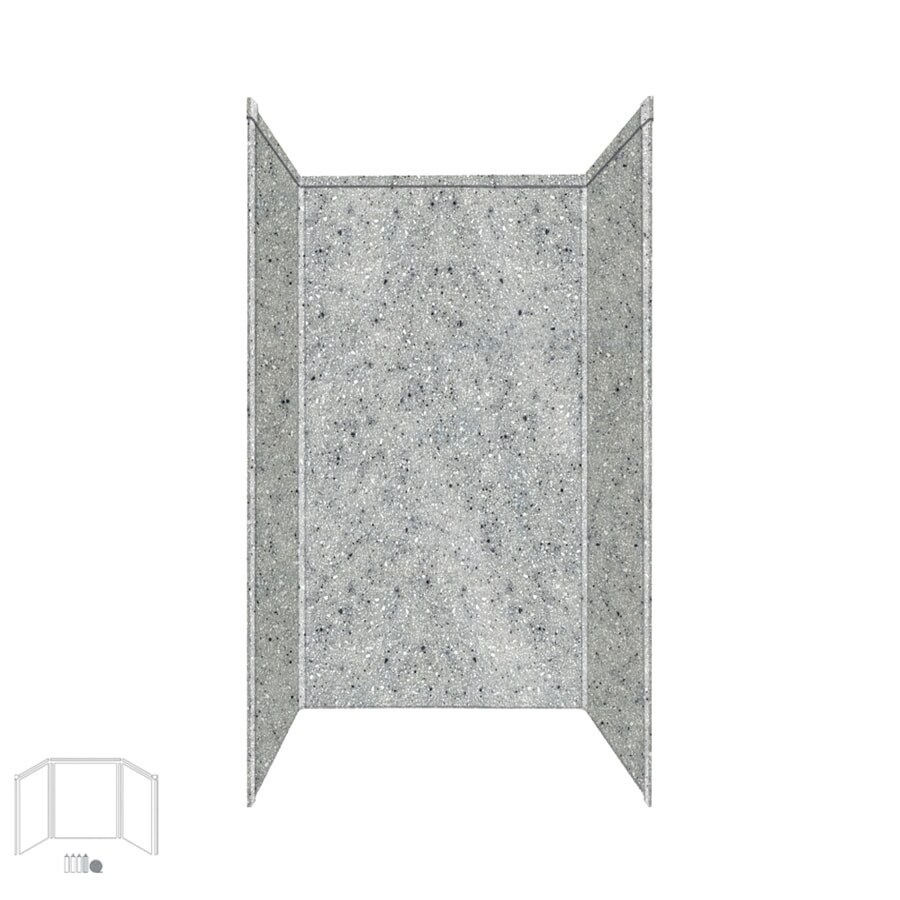 Transolid Decor Matrix Dusk Shower Wall Surround Corner Wall Kit (Common: 42-in x 42-in; Actual: 72-in x 42-in x 42-in)