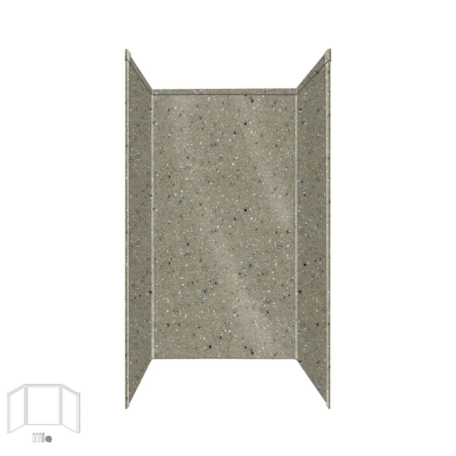 Transolid Decor Peppered Sage Shower Wall Surround Side and Back Panels (Common: 42-in x 42-in; Actual: 96-in x 42-in x 42-in)