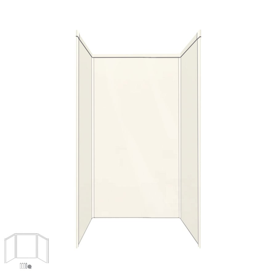 Transolid Decor Cameo Shower Wall Surround Corner Wall Kit (Common: 42-in x 42-in; Actual: 96-in x 42-in x 42-in)