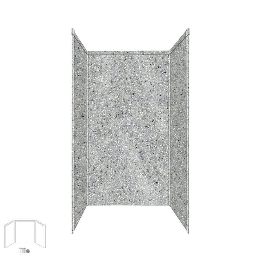 Transolid Decor Matrix Dusk/Stone Shower Wall Surround Side and Back Panels (Common: 42-in x 42-in; Actual: 96-in x 42-in x 42-in)