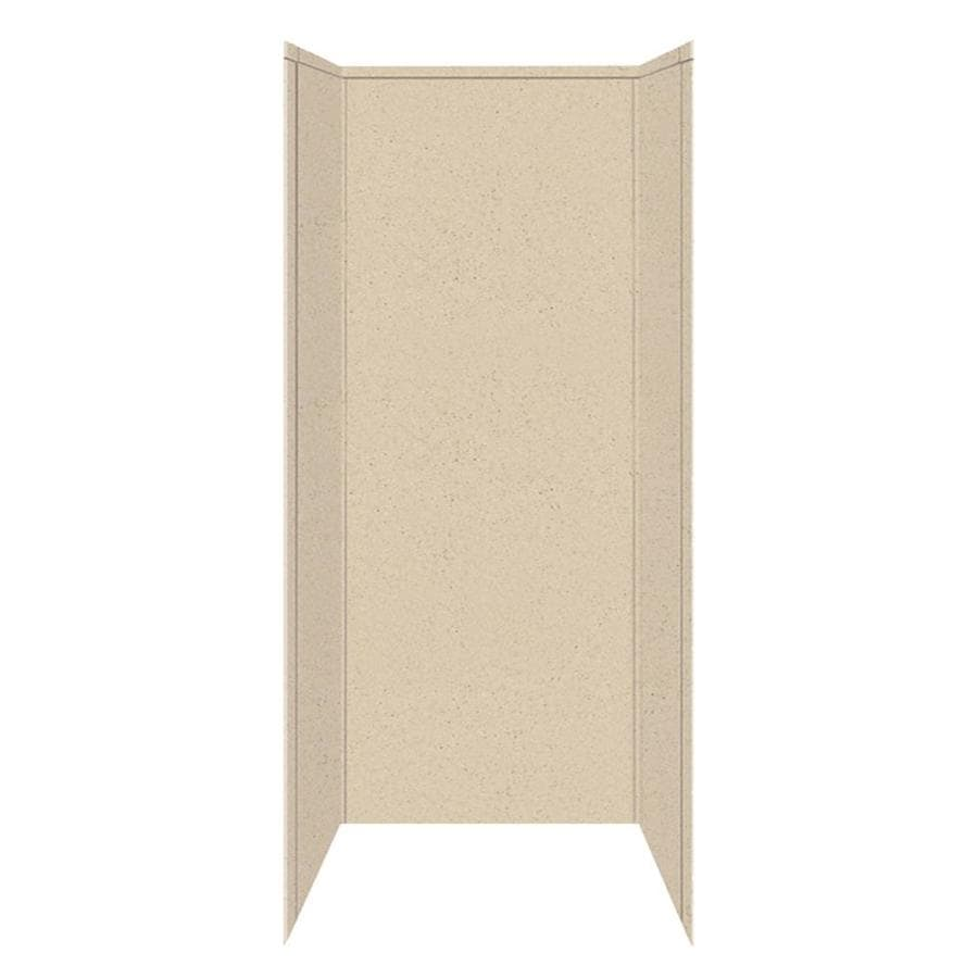 Transolid Decor Matrix Khaki/Sunset Sand Shower Wall Surround Side and Back Panels (Common: 42-in x 42-in; Actual: 96-in x 42-in x 42-in)