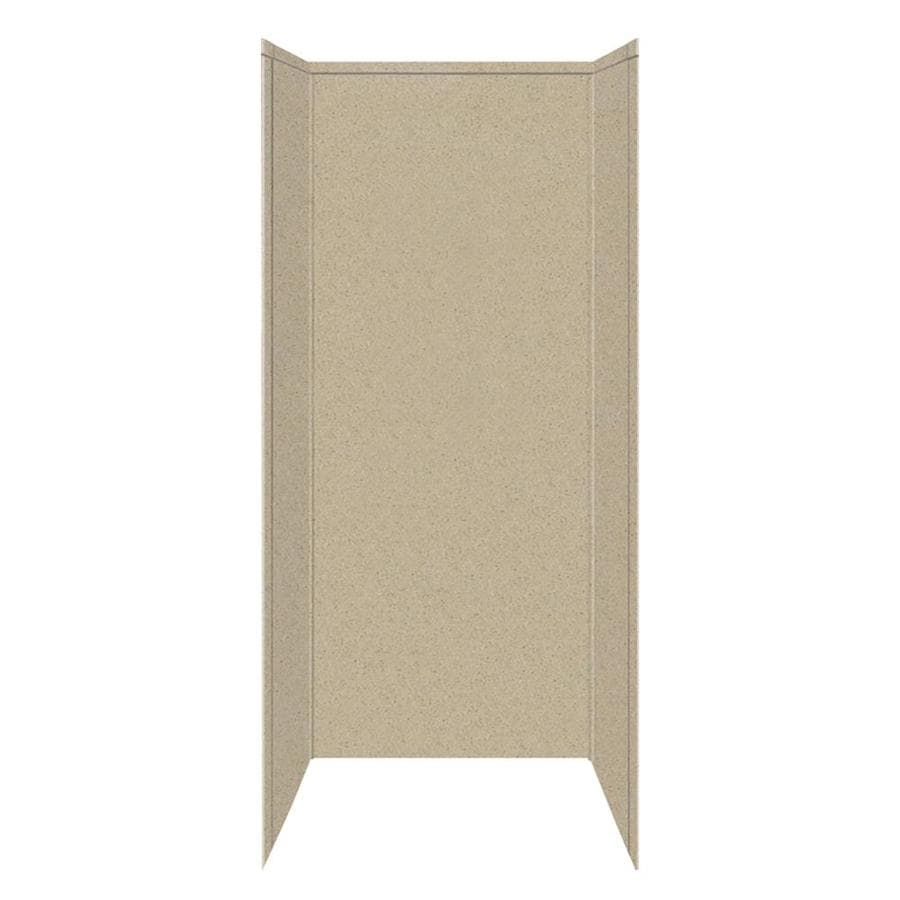 Transolid Decor Matrix Sand Shower Wall Surround Side And Back Wall Kit (Common: 42-in x 42-in; Actual: 96-in x 42-in x 42-in)