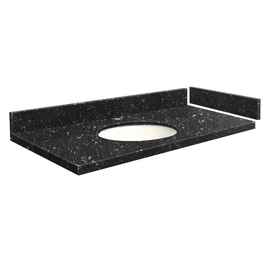 Transolid 58 In Interlude Quartz Single Sink Bathroom Vanity Top In The Bathroom Vanity Tops Department At Lowes Com