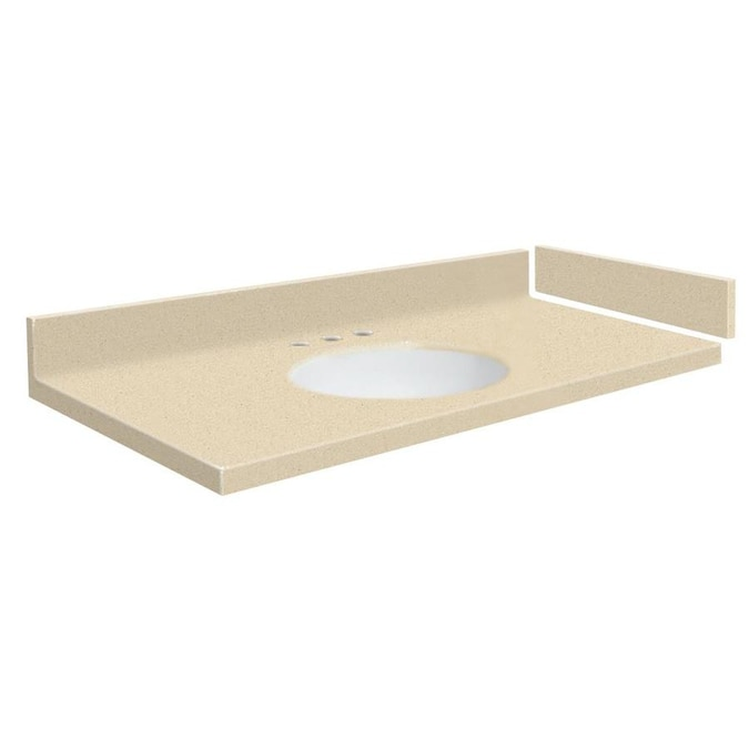 Transolid 43.25-in Sea Shore Solid Surface Bathroom Vanity ...