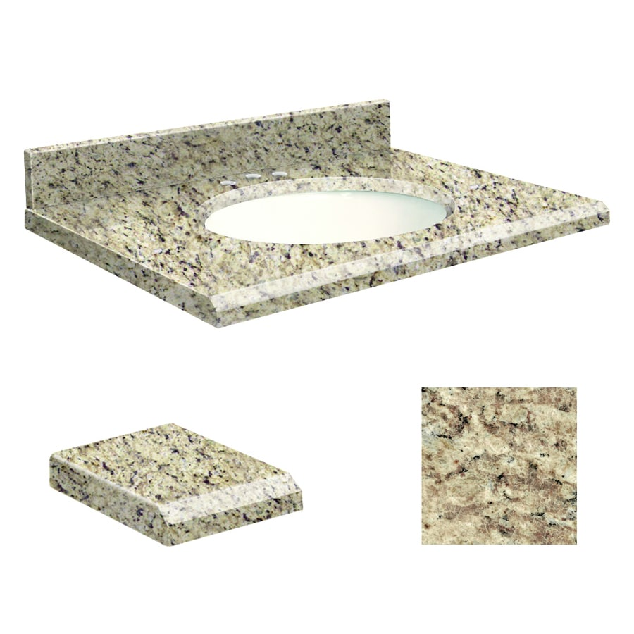 Transolid Giallo Ornamental Granite Undermount Single Sink Bathroom Vanity Top (Common: 25-in x 19-in; Actual: 25-in x 19-in)