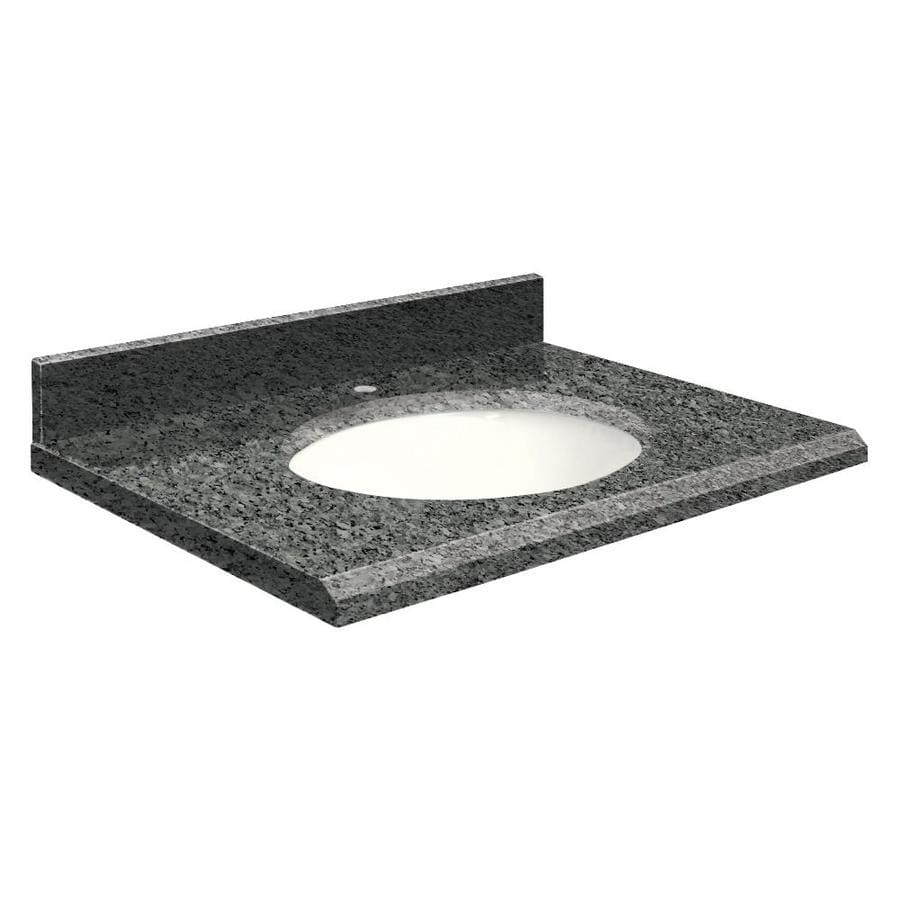 Transolid Blue Pearl Granite Undermount Single Sink Bathroom Vanity Top (Common: 25-in x 19-in; Actual: 25-in x 19-in)