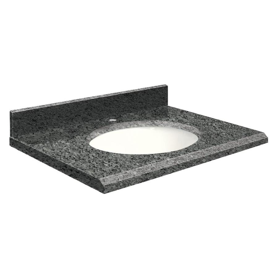 Transolid Blue Pearl Granite Undermount Single Sink Bathroom Vanity Top (Common: 25-in x 22-in; Actual: 25-in x 22-in)