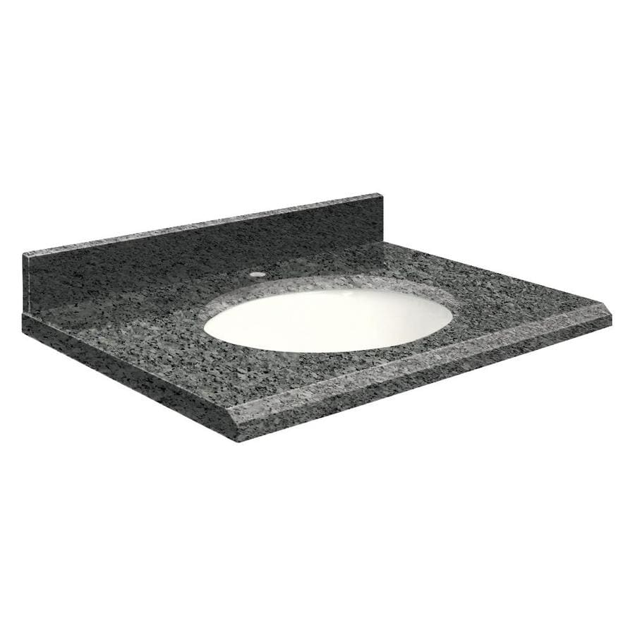 Transolid Blue Pearl Granite Undermount Single Sink Bathroom Vanity Top (Common: 31-in x 22-in; Actual: 31-in x 22-in)