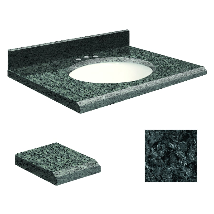 Transolid Blue Pearl Granite Undermount Single Sink Bathroom Vanity Top (Common: 31-in x 22-in; Actual: 31-in x 22-in)