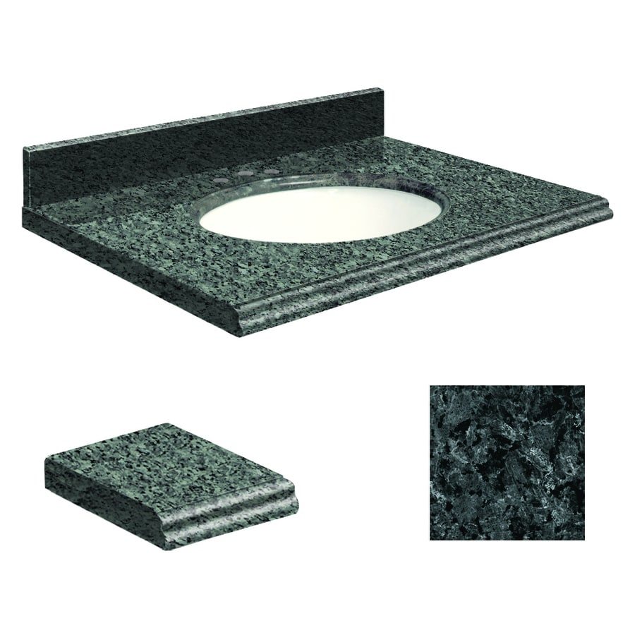 Transolid Blue Pearl Granite Undermount Single Sink Bathroom Vanity Top (Common: 37-in x 22-in; Actual: 37-in x 22-in)