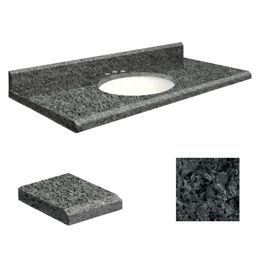 Transolid Blue Pearl Granite Undermount Single Sink Bathroom Vanity Top (Common: 43-in x 22-in; Actual: 43-in x 22-in)