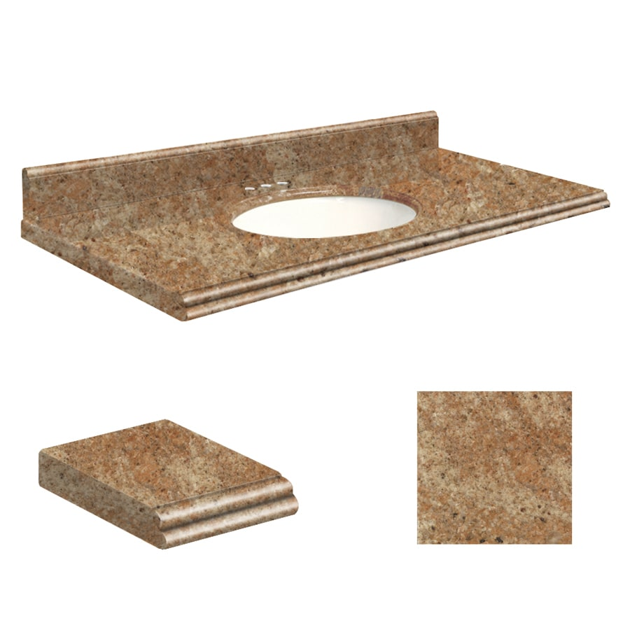 Shop Transolid India Gold Granite Undermount Single Sink