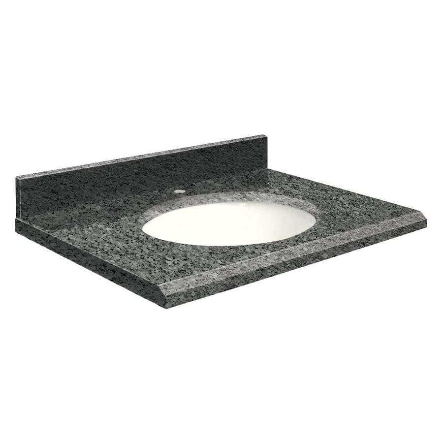 Transolid Blue Pearl Granite Undermount Single Sink Bathroom Vanity Top (Common: 49-in x 19-in; Actual: 49-in x 19-in)