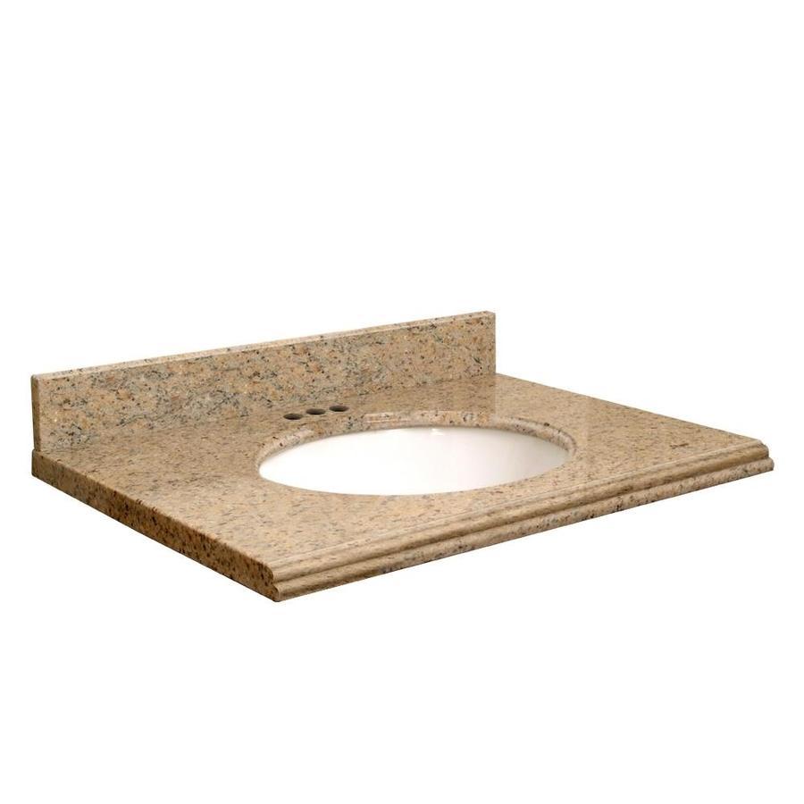 Transolid Giallo Veneziano Granite Undermount Single Bathroom Vanity Top (Common: 49-in x 19-in; Actual: 49-in x 19-in)