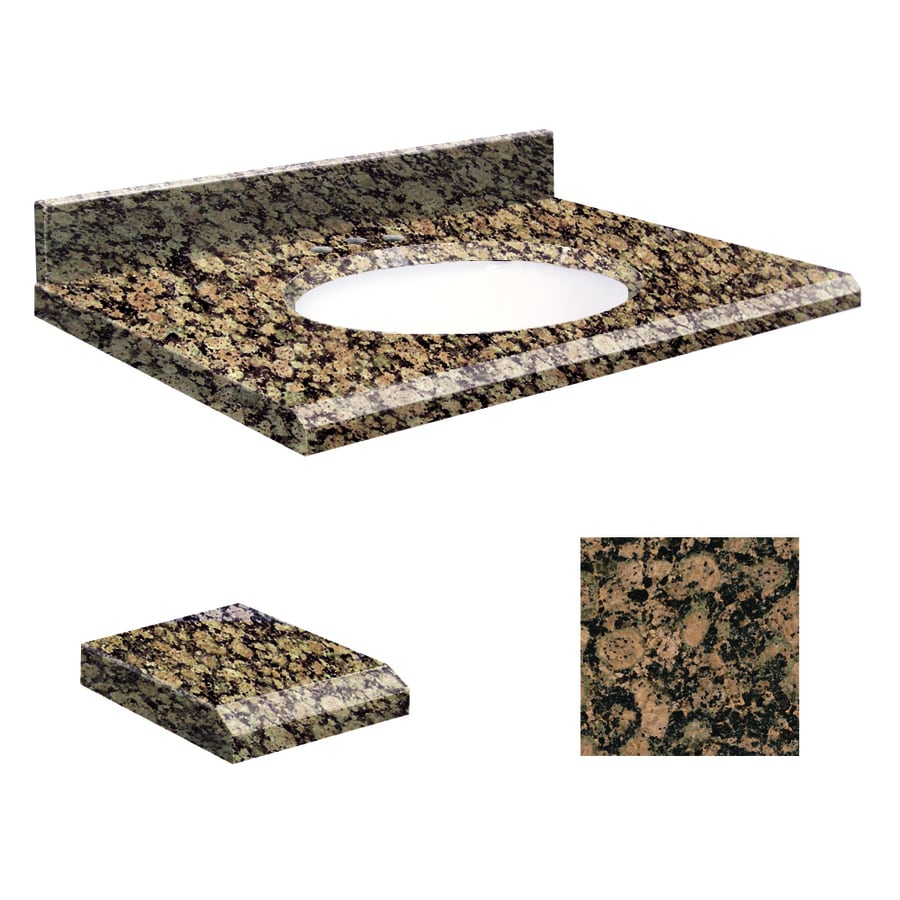 Transolid Baltic Brown Granite Undermount Single Bathroom Vanity Top (Common: 49-in x 22-in; Actual: 49-in x 22-in)