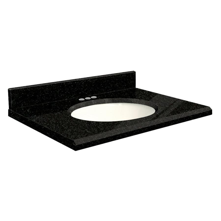 Transolid Absolute Black Granite Undermount Single Bathroom Vanity Top (Common: 49-in x 22-in; Actual: 49-in x 22-in)