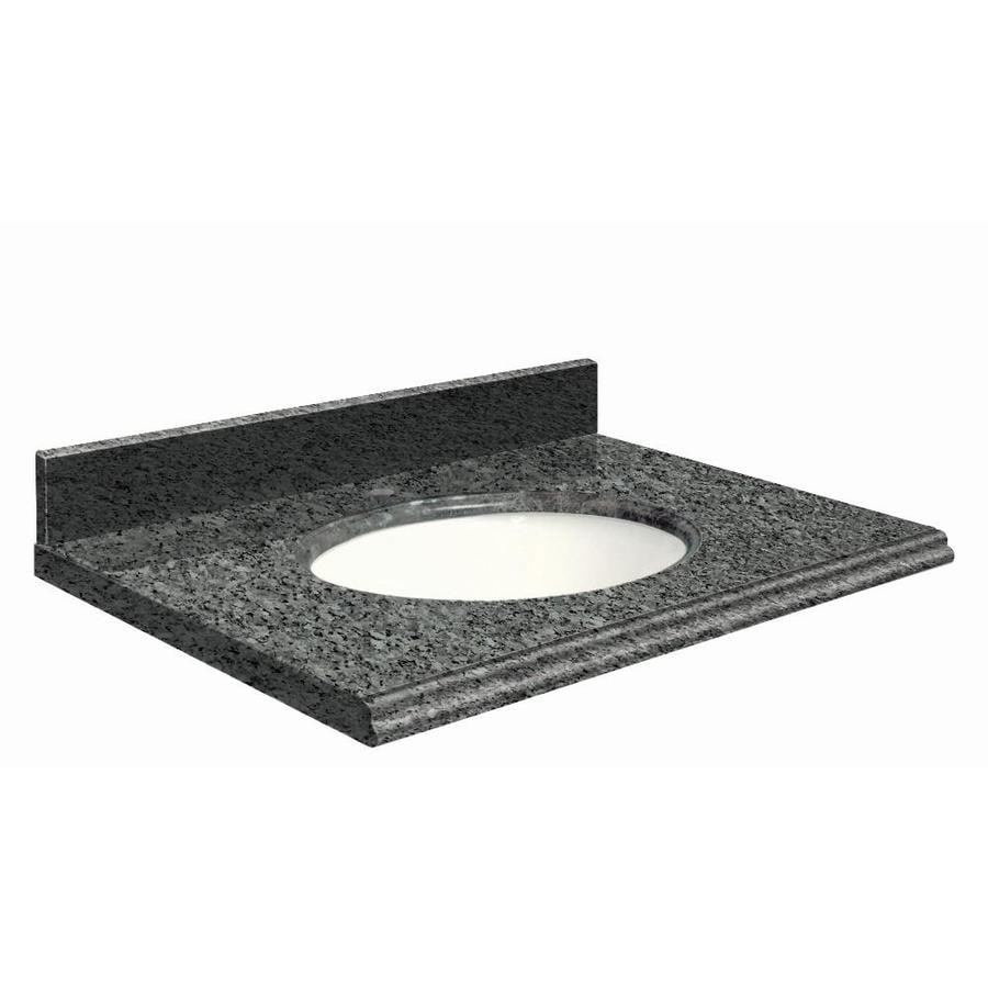 Transolid Blue Pearl Granite Undermount Single Bathroom Vanity Top (Common: 49-in x 22-in; Actual: 49-in x 22.25-in)