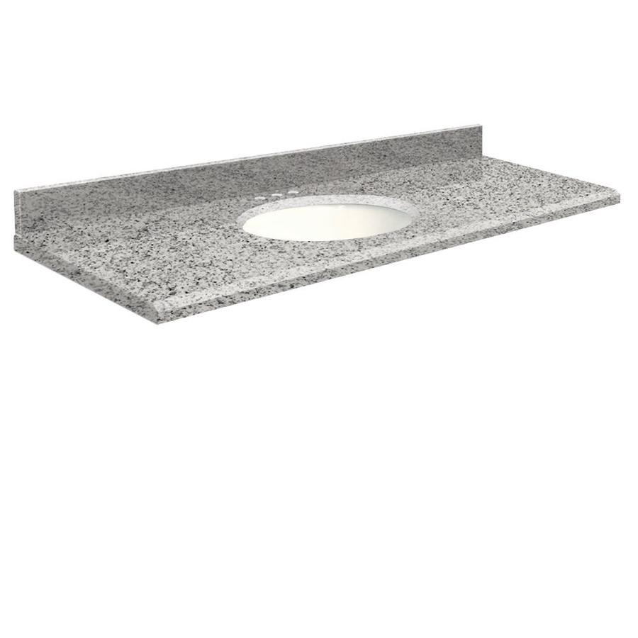 Transolid Rosselin White Granite Undermount Single Bathroom Vanity Top (Common: 61-in x 22-in; Actual: 61-in x 22-in)