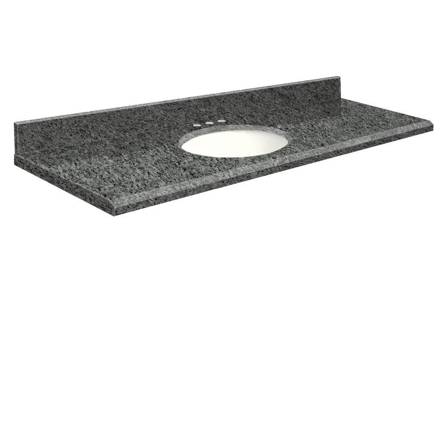 Transolid Blue Pearl Granite Undermount Single Bathroom Vanity Top (Common: 61-in x 22-in; Actual: 61-in x 22-in)