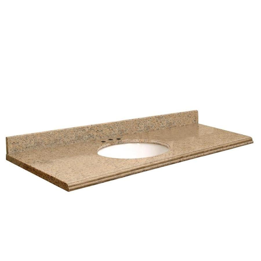 Transolid Giallo Veneziano Granite Undermount Single Bathroom Vanity Top (Common: 61-in x 22-in; Actual: 61-in x 22-in)