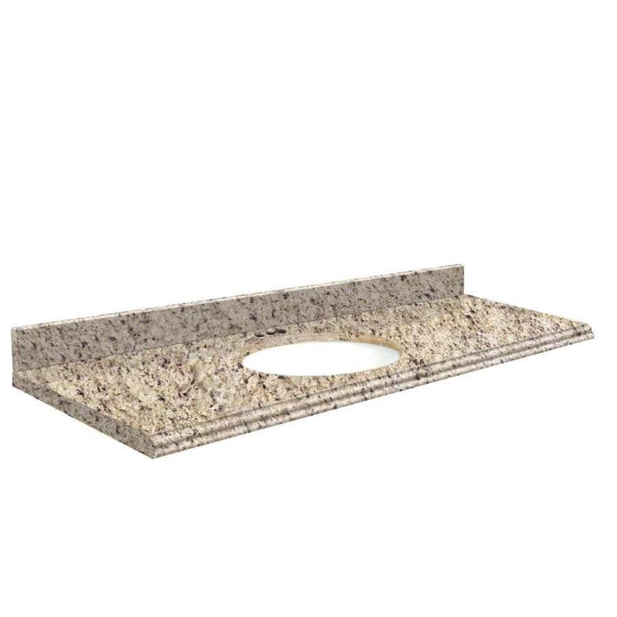 Transolid Giallo Ornamental Granite Undermount Single Bathroom Vanity Top (Common: 61-in x 22-in; Actual: 61-in x 22-in)