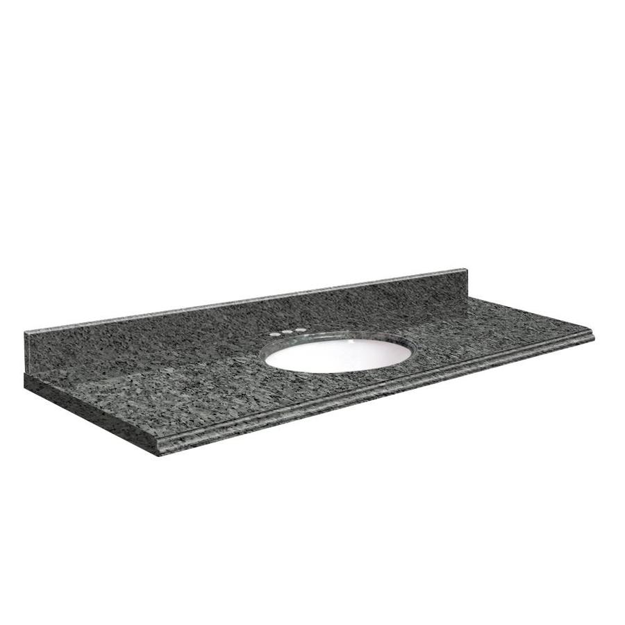 Vanity top common 61 in x 22 in actual 61 in x 22 in at lowes com - Shop Transolid Blue Pearl Granite Undermount Single