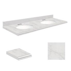 Double Vanity Tops For Bathrooms shop bathroom vanity tops at lowes