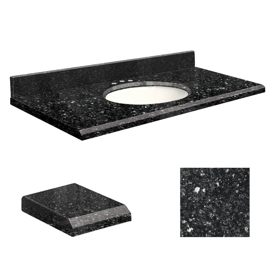 Transolid Notte Black Quartz Undermount Single Bathroom Vanity Top (Common: 25-in x 22-in; Actual: 25-in x 22-in)