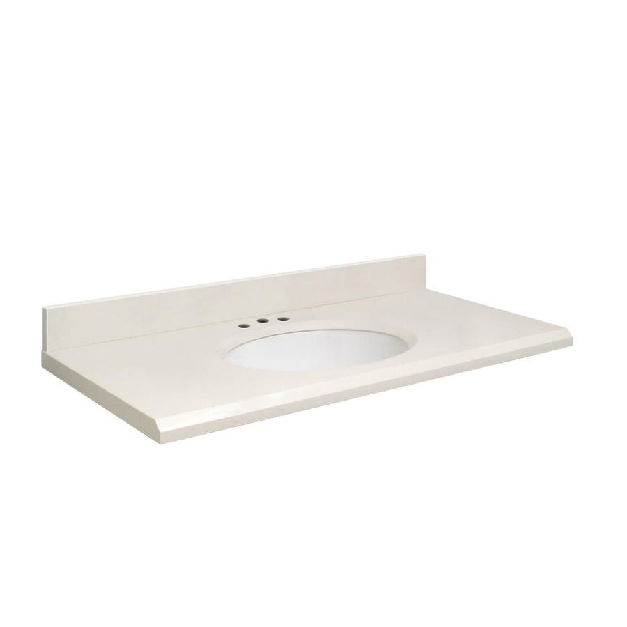 Transolid Milan White Quartz Undermount Single Bathroom Vanity Top (Common: 25-in x 22-in; Actual: 25-in x 22.25-in)