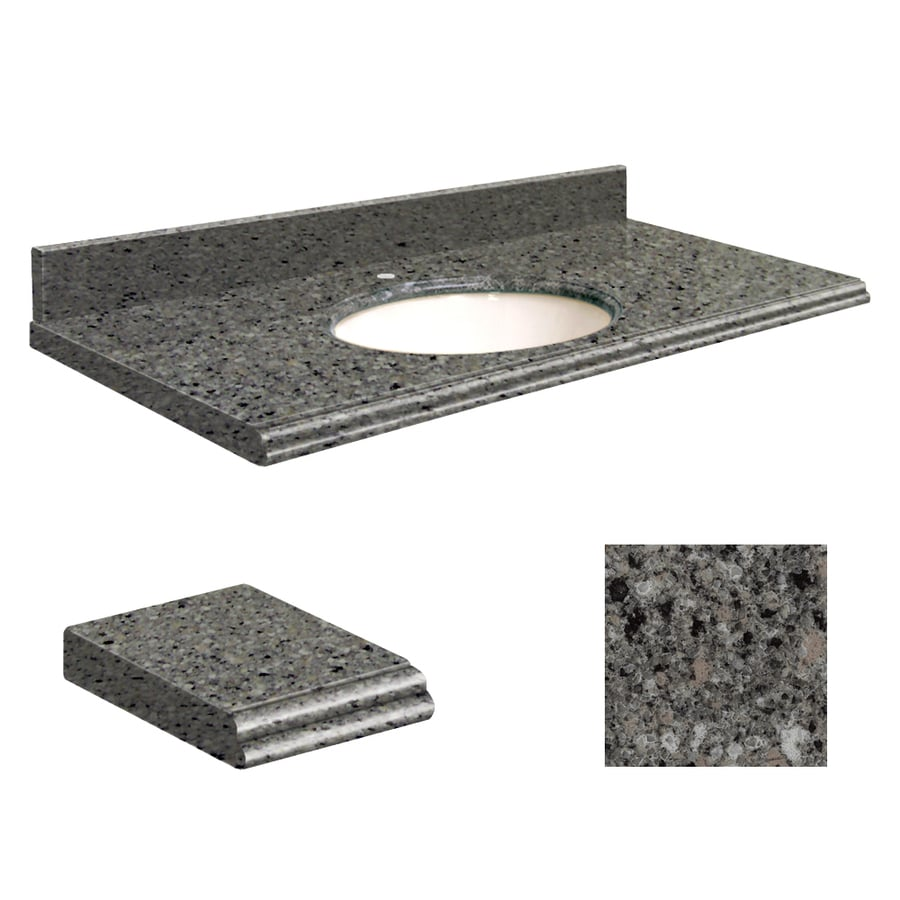 Transolid Canterbury Stone Quartz Undermount Single Sink Bathroom Vanity Top (Common: 25-in x 22-in; Actual: 25-in x 22-in)