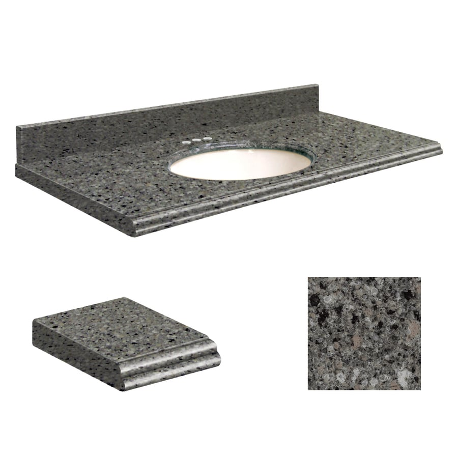Transolid Canterbury Stone Quartz Undermount Single Bathroom Vanity Top (Common: 31-in x 22-in; Actual: 31-in x 22-in)