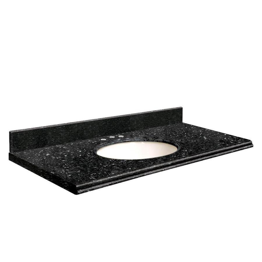 Transolid Notte Black Quartz Undermount Single Bathroom Vanity Top (Common: 31-in x 22-in; Actual: 31-in x 22-in)