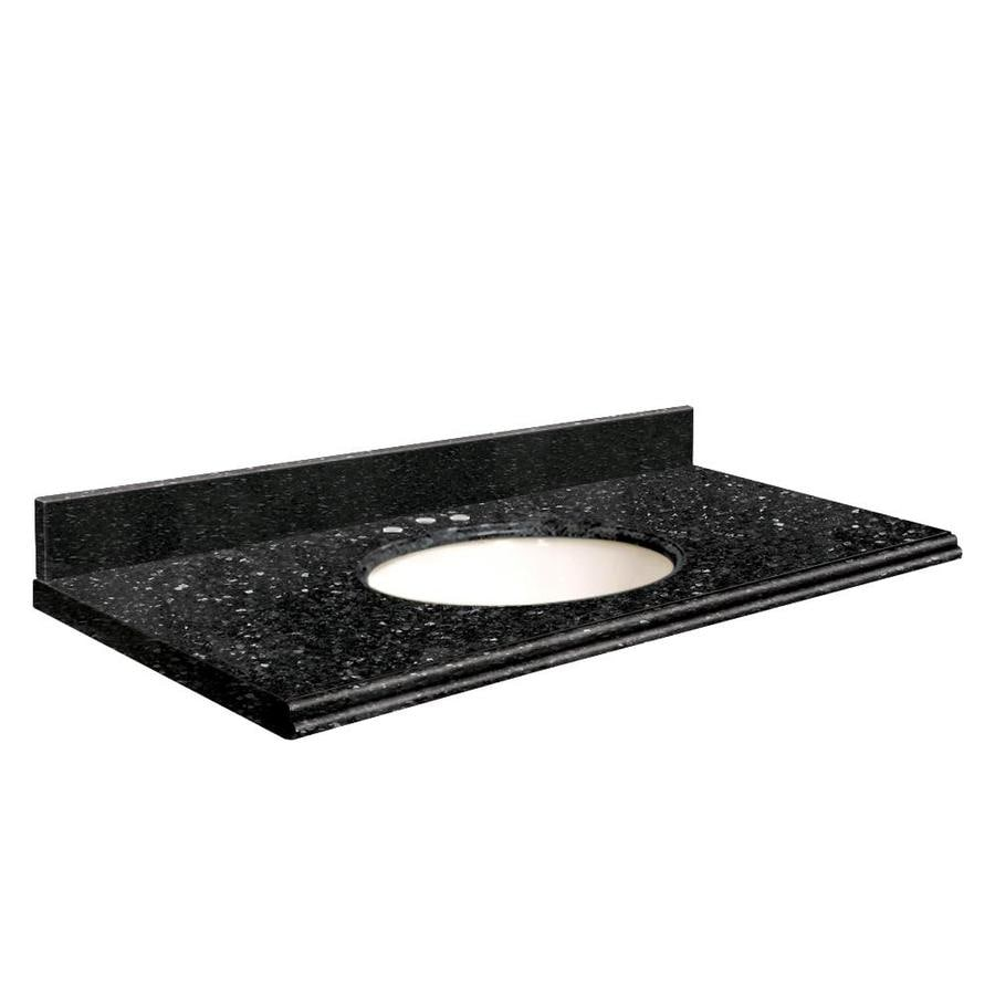 Transolid Notte Black Quartz Undermount Single Bathroom Vanity Top (Common: 37-in x 22-in; Actual: 37-in x 22-in)